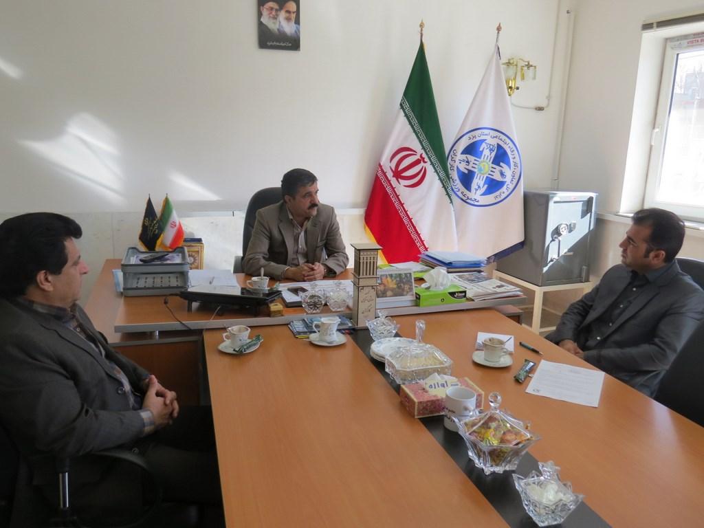 برگزاری جلسه مشترک هیات ورزش کارگری استان و هیات بسکتبال استان یزد
