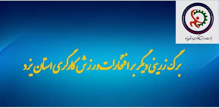 هیأت ورزشی کارگران استان یزد در رتبه دوم ارزیابی عملکرد هیئت های ورزشی استان یزد قرار گرفت.
